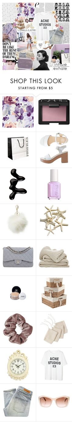 """""""how can i begin anything new with all of yesterday in me?"""" by my-pink-wings ❤ liked on Polyvore featuring Laboratorio, NARS Cosmetics, American Apparel, Models Own, Essie, Charlotte Russe, Chanel, Mamas & Papas, Topshop and WALL"""