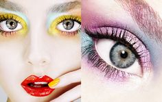 Yellow eyeshadow is a nice thought... | photograph by Alix Malka