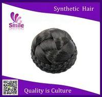 2015 New Arrival Clip In On Hair Bun Beauty Virgin Chignon Bun Hairpiece For Women Synthetic Braid Bun Hairpiece