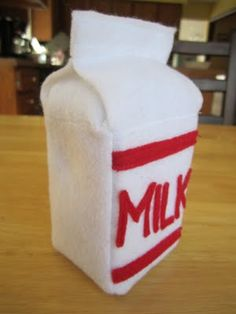 DIY Felt Milk Carton