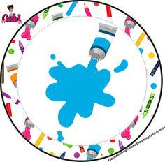 Olá queridos amigos ( as ) e seguidores do nosso Blog . Hj temos mais um Kit feito especialmente por mim ( Gabi Bonfim )p ajudar a colori... Art Themed Party, Art Party, Party Themes, Art For Kids, Crafts For Kids, School Border, Puzzles For Toddlers, Doll Party, 3d Cards