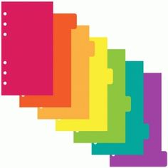 Silhouette Design Store: personal size 6 ring planner dividers 6 tab