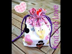 ▶ Bolsa de Tela Tutorial / Drawstring bag tutorial - YouTube