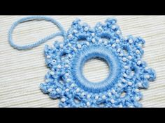 How To Make A Crocheted Snowflake Christmas Ornament - DIY Crafts Tutorial - Guidecentral - YouTube