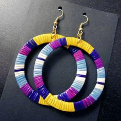 Large Quill Hoop Earrings by Lonna Jackson (Dakota/Chippewa)