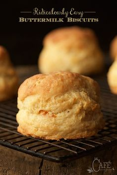 Ridiculously Easy Buttermilk Biscuits - easy as in, less than 10 minutes to throw together. Next thing you know, tall, flaky, incredibly delicious biscuits! will be rolling out of your oven!
