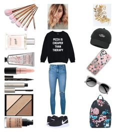 """""""March Madness 🌸"""" by alex-marie02 ❤ liked on Polyvore featuring beauty, Nobody Denim, NIKE, Herschel Supply Co., Ace, Casetify, Vans, Ilia, Elizabeth Arden and MAKE UP FOR EVER"""