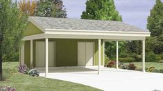 Find your carport plan today at the lowest prices with Family Home Plans. View our wide selection of reliable open and closed carport designs for your home! Carport Sheds, 2 Car Carport, Carport Plans, Carport Garage, Shed Plans, House Plans, Carport Patio, Carport Kits, Pergola Kits