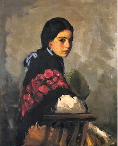"""""""SPANISH GIRL"""" Artist: Robert Henri"""