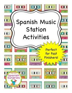Would be great for last week of Spanish or end of school year