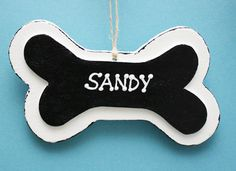 Personalized Dog Bone Ornaments; use these as food bin labels