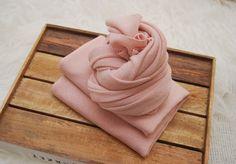 Baby Wrap, Newborn Photo Prop, Newborn Wrap, Stretch Wrap, Jersey Wrap, Knit Wrap, Soft Fabric Wrap, Newborn Layer, Fabric Layer, Blush Pink by LovelyBabyPhotoProps on Etsy