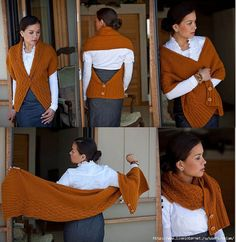 Patrón para realizar una prenda multiusos en ganchillo, chaqueta, bufanda, chal,...