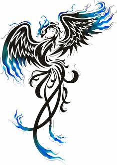 pheonix - Phoenix Tattoo - Amazing Garden Ideas - DIY Home Accents - Hairstyle For Long - DIY Jewelry Tutorial Phoenix Tattoo Feminine, Tribal Phoenix Tattoo, Phoenix Bird Tattoos, Phoenix Tattoo Design, Tribal Tattoos, Celtic Tattoos, Elephant Tattoos, Tattoo Symbols, Jj Tattoos