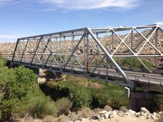 Old Steel-Truss Bridge crosses the Mojave River on the National Old Trails Highway  California Route 66
