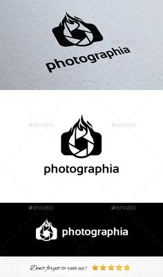 Photography Logo Template — Photoshop PSD #click #camera • Available here → https://graphicriver.net/item/photography-logo-template/9199288?ref=pxcr