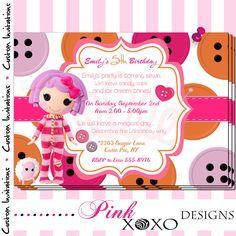 Lalaloopsy (Pillow Featherbed) Birthday Party Invitation  - Girls Printable Digital Invite. $14.95, via Etsy.