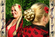 Hey, I found this really awesome Etsy listing at https://www.etsy.com/listing/112125755/c-u-s-t-o-m-c-o-l-o-r-hair-fall-plait