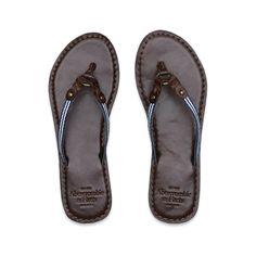 Abercrombie & Fitch - Shop Official Site - Womens - Features - New Arrivals - Vintage Beach Flip Flops - StyleSays