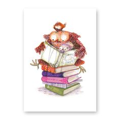 wenskaart 'little book lovers' https://www.moniekpeekcardshop.com/