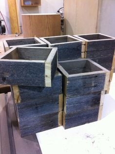 wooden planters for centerpieces?
