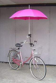 Bike umbrella holder. A must!