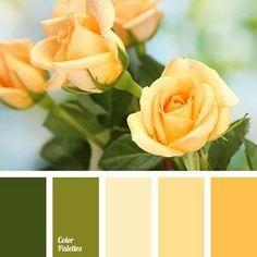 палитра,желтый, зеленый