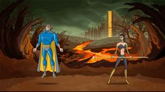 Screenshot of the promotional cinematic