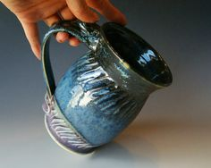 Pottery Coffee Mug / Handmade Wheel Thrown by riverstonepottery, $25.00
