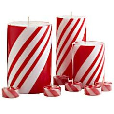 Peppermint Creme Candles.  I don't know if I'd like the smell, but they would look adorable as decorations <3
