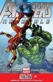 Avengers Assemble #11  Yun Guang Han has infected his Order of the Dragon initiates with next-step evolutionary bacteria and built himself a super-creepy army with which to conquer the world! Spider-Woman is safe in that box with the parasite-infested Hulk, right?