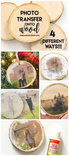 photo transfer onto wood. #diyhomedecor #diy #decor #woodslice #christmasgift #christmaspresent #phototransfer #homemadegift #giftsforparents #giftsforgrandparents #teachersgift #diygift #afflink #az