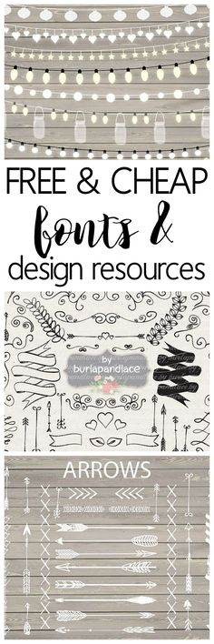 Free and Cheap Fonts and Design Resources - One of the best sites to snag design resources and free fonts. Great for designers who sell their products - commercial use licenses included with many downloads. Sponsored by designbundles.net