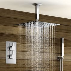 View our fantastic range of thermostatic showers including concealed & exposed thermostatic mixer showers & bar mixer showers with handheld shower heads. 3d Bathroom Design, Modern Bathroom Faucets, Bathroom Designs Images, Diy Bathroom Vanity, Bathroom Ideas, Bathroom Plumbing, Bathroom Stuff, Bathroom Storage, Bathroom Inspiration