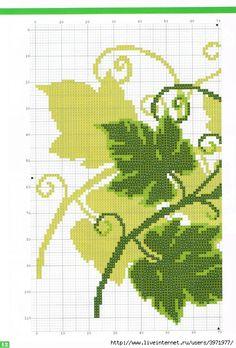 Ivy embroidery to cross stitch - Cross Stitch Schemes