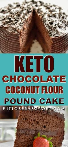 It's a keto chocolate coconut flour pound cake recipe. This keto coconut flour cake is rich in flavor yet low in carbs, nut-free, sugar-free, gluten-free and keto-friendly. Coconut Flour Cakes, Coconut Flour Recipes, Almond Flour, Coconut Milk, Desserts Keto, Keto Friendly Desserts, Holiday Desserts, Keto Snacks, Dessert Recipes
