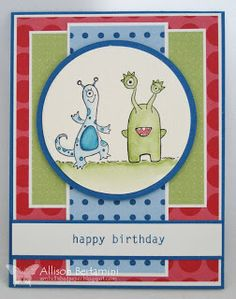 Embellished Paper: Greetings Earthling, birthday whimsy, Stampin Up
