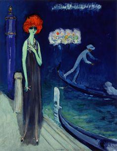 * The Quai, Venice (la Casati) ca. 1921     Kees van Dongen (1877–1968)