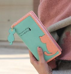 Cute and Simple Rectangle Kitty Wallet!