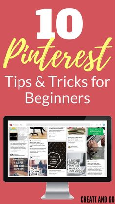 A lot of people begin using Pinterest because of its popularity, business opportunities, and free traffic.  A lot of people also give up on it, because they can't figure it out. These Pinterest tips and tricks will help you grow your blog and make money online in no time! http://createandgo.co/pinterest-tips-beginners/