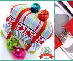 Bundle of Box Style Floor Cushions: Deck The Halls with Fabric.com   Sew4Home