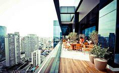 Área externa do restaurante do escritório do Google em São Paulo Leia mais