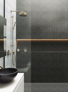30 Amazing Small Bathroom Wall Tile Ideas To Inspire You - Wall Art Bathroom Design Inspiration, Bad Inspiration, Design Ideas, Design Trends, Design Design, Design Blogs, Bath Design, Renovation Design, Design Rustique