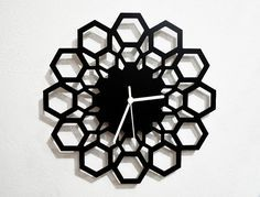 Geometrical Hexagon Wall Clock by SolPixieDust on Etsy
