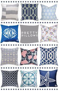 pretty pillow round-up via @luluandgeorgia @waitingonmartha @cwdtextiles @furbishstudio @madelineweinrib @wisteriaonline + @sued