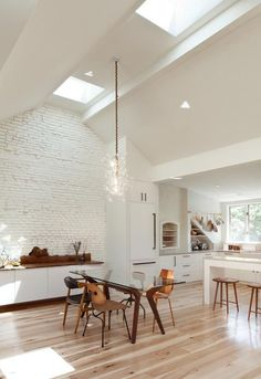 modern white kitchen with tall ceilings / sfgirlbybay  ~ Great pin! For Oahu architectural design visit http://ownerbuiltdesign.com
