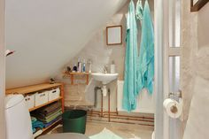 Space-saving tricks make the most of this tiny heritage townhouse in Denmark. It has 1 bedroom in 527 sq ft. | www.facebook.com/SmallHouseBliss