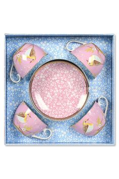 PiP Giftbox Cup and Saucer Cappuccino Pink From Pip studio