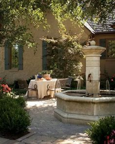 A typical Provencal stone fountain
