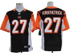 Size 60 4XL Cincinnati Bengals  27 Dre Kipkpatrick Black Stitched Nike  Elite NFL Jerseys. 7e238379d